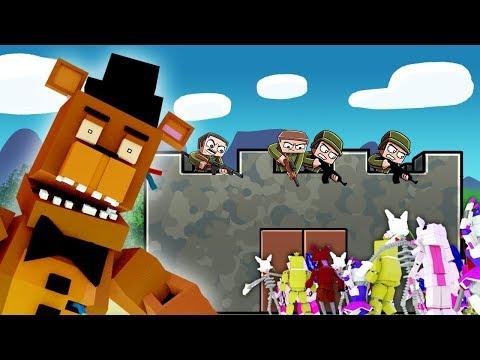 Minecraft - FNAF BASE CHALLENGE: Animatronic Army! (Five Nights at Freddy's)