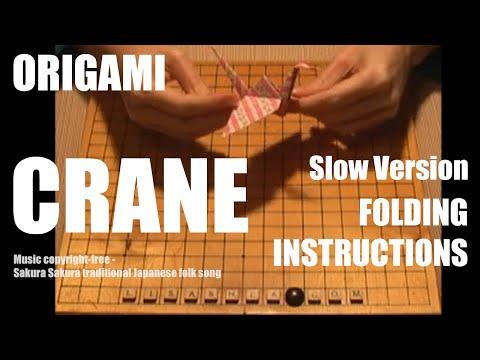 Origami Crane Folding Instructions - SLOW VERSION
