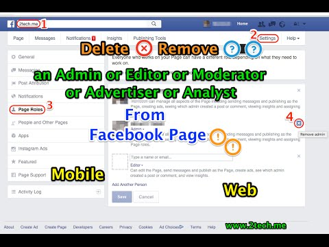 Remove an Admin or Moderator From Facebook Page