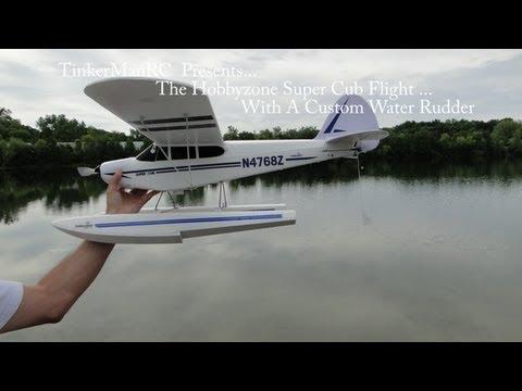 Hobbyzone Super Cub Flight With Custom Water Rudder