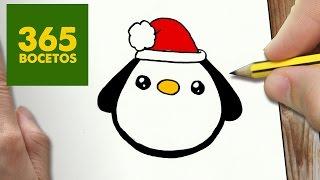 Como dibujar dibujos de navidad paso a paso