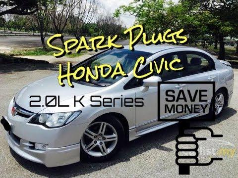 Honda Civic Spark Plugs Change Replacement - 2.0L - K Series - 8th Gen