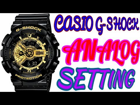 CASIO G-SHOCK ANALOG TIME SETTING OF ILLUMINATOR GA-110GB WRIST WATCH (Shock Proof)