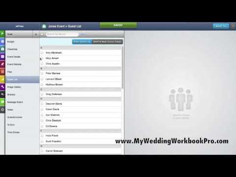 Guest List Manager - My Wedding Workbook Pro