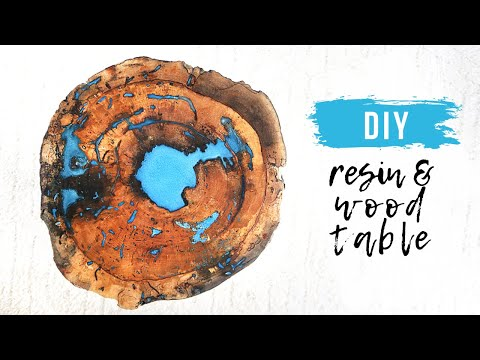 DIY Live Edge Wood and Resin Table || How To Pour Resin || How To Fill Voids in Wood