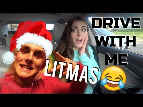 DRVE WITH ME: REACTING TO LITMAS BY JAKE PAUL (WTF LOL)