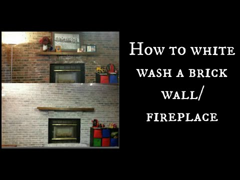 How to white wash a brick wall/fireplace