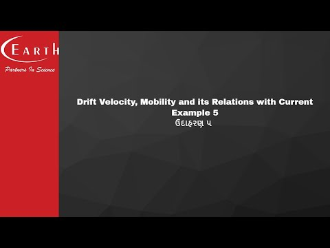 Drift Velocity, Mobility and its Relations with Current-Example 5 | ઉદાહરણ ૫ | 12th science physics