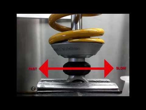 Ohlins shock absorber rebound clicker adjuster function Öhlins