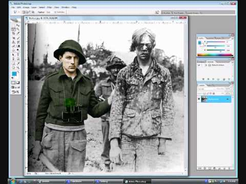Photoshop: Coloring a black/white picture.