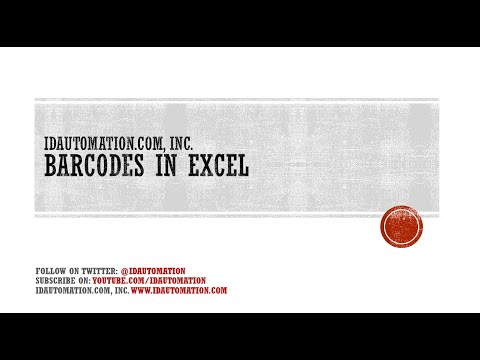 Microsoft Excel Barcode Add-in Tutorial for 2003, 2007, and 2010