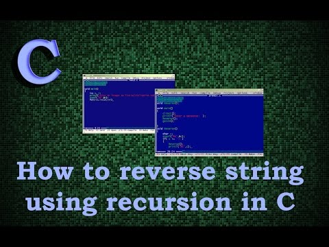 how to reverse string using recursion in c