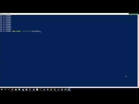 How to create new folder with powershell