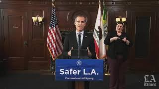 Los Angeles Mayor Eric Garcetti responds to the death of George Floyd