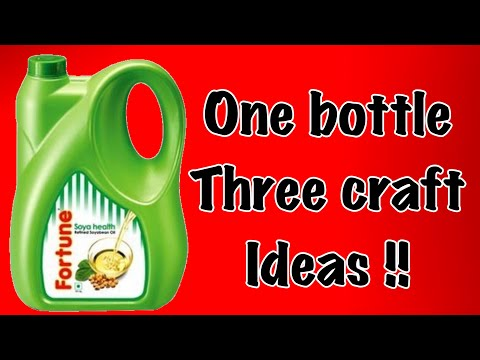 Make 3 easy and useful things with used refined oil plastic can |wattering can|dustpan|book holder