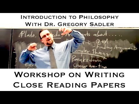 Intro to Philosophy: Workshop on Writing Close Reading Papers