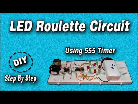 LED Roulette Circuit | DIY | Using 555 Timer IC | Step By Step