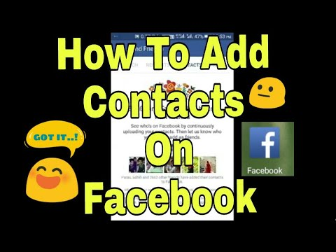 How to add Contacts to Facebook On Android??