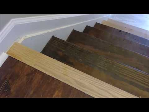 Transition  Between Laminate Floor To Stairs - Installation  Of Stair Nose