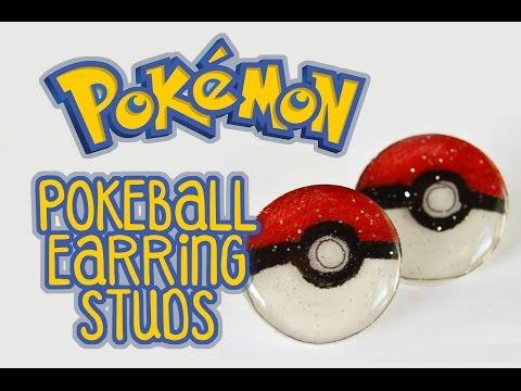 DIY Pokeball Earring Studs Using Shrinky Dinks | Pokemon Collab