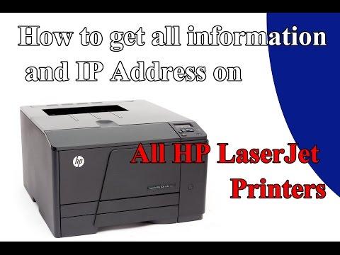 HP laserJet Pro200 , ip confirguration