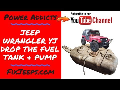 Jeep Wrangler YJ - Drop the gas tank on Rust Bucket and show fuel pump