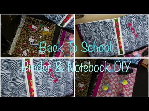 3 Easy Back To School DIY: Binder & Notebooks - Zebra, Cupcakes & Hello Kitty! | Pinkl0vexx