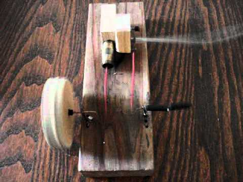 Homemade Wooden compressed air engine