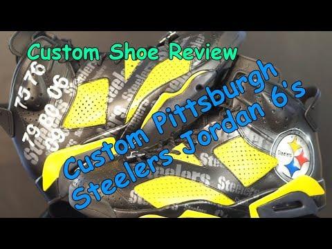 Custom Pittsburgh Steelers Jordan 6's - DezCustomz -  Custom Shoe Review