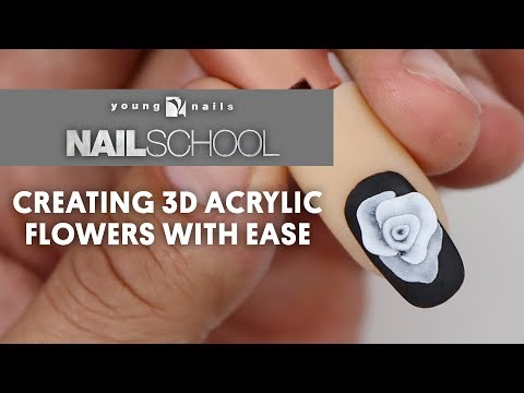 YN NAIL SCHOOL - CREATING 3D ACRYLIC FLOWERS WITH EASE