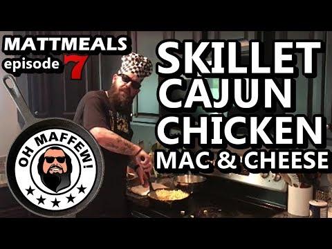 Skillet Cajun Chicken Mac n Cheese - MattMeals cooking show dinner recipe