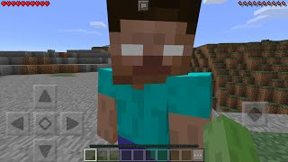 I Found Herobrine In Minecraft Pocket Edition How To Spawn Herobrine