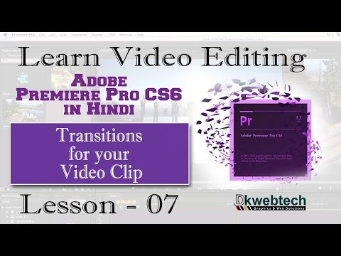 Transitions Effects for your Video Clip I Adobe Premiere Pro CS6 in Hindi #7