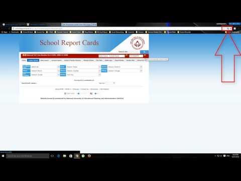 School Report Card-How To Download Udise School Report Card on Google Chrome Part-2 [Hindi/Urdu]