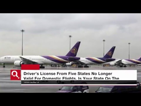 Drivers License Not Valid For Domestic Flight Identification