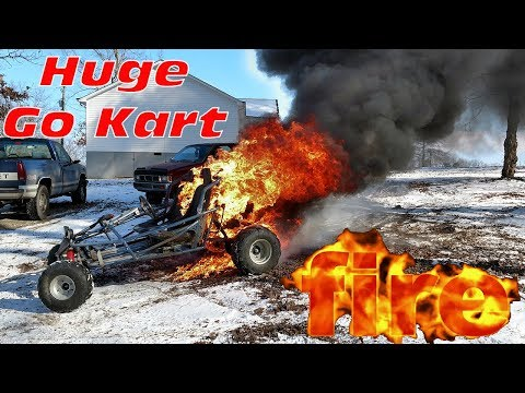 670cc Off Road Go Kart Burns To The Ground ~ HUGE FIRE!!!
