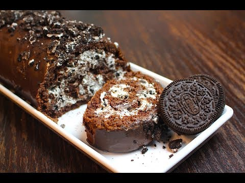 CHOCOLATE SWISS ROLL (OREO) *COOK WITH FAIZA*