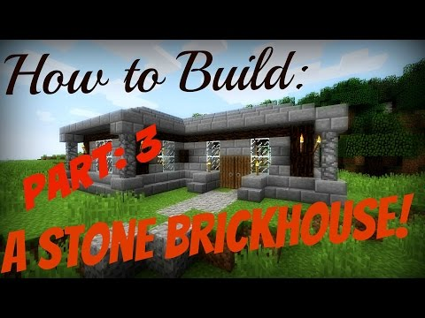 Minecraft How to Build Pt: 3 | A Small Stone Brick/Spruce Wood House!