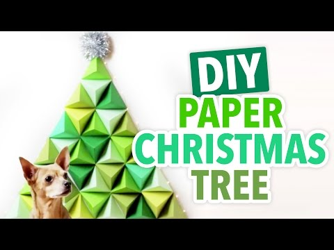 DIY 3D Geometric Paper Christmas Tree- HGTV Handmade