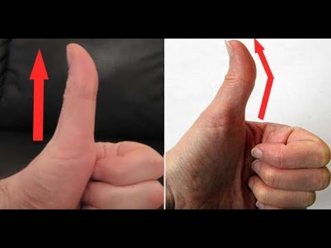 IS YOUR THUMB STRAIGHT OR CROOKED HERE IS WHAT IT MEANS!