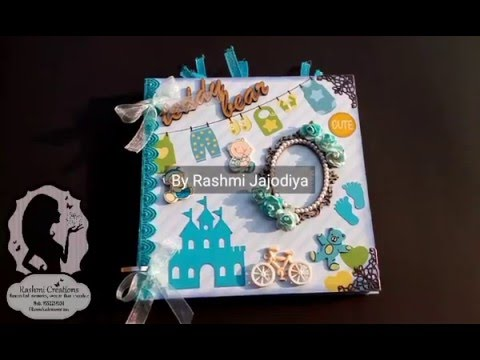 Baby Scrapbook / 1st year record book / Baby boy scrapbook / scrapbooking ideas |by Rashmi Jajodiya