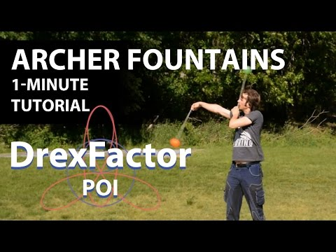 How to do Archer Weave Fountains for Poi: 1-minute tutorial
