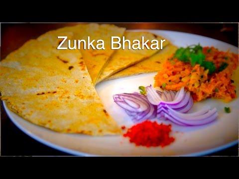 Zunka Bhakar/Handmade Bread with Zunka(curry)