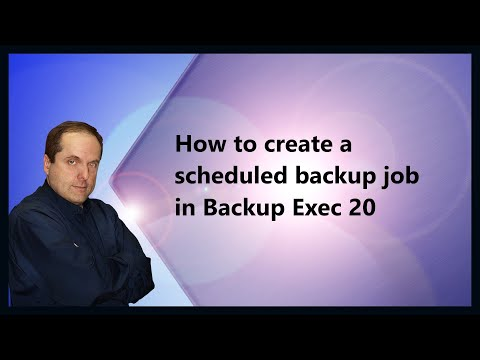 How to create a scheduled backup job in Backup Exec 20