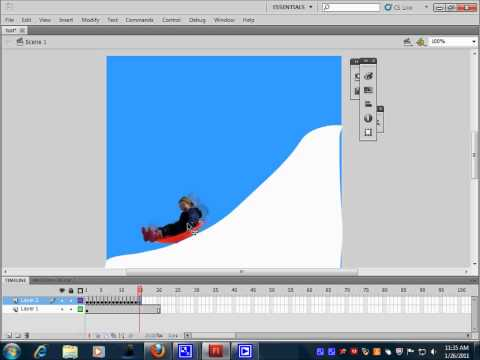 How to create a simple animation in Flash CS5