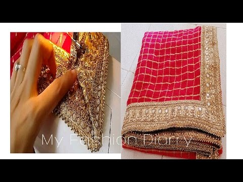 HOw to Beautiful saree with laces /border ( perfectly) with tips |DIY|