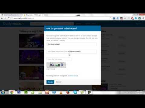 How To Create Dailymotion Account In Urdu & Hindi Video Tutorial By umair
