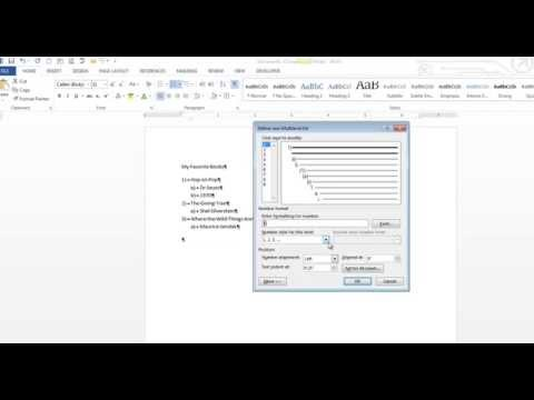 Multi-level Lists in Word 2013
