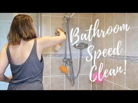 BATHROOM SPEED CLEAN! | CLEANING MOTIVATION | CARLY ELLEN