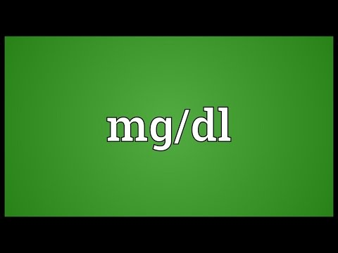 Mg/dl Meaning